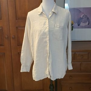 Eddie Bauer light tan vintage linen tunic